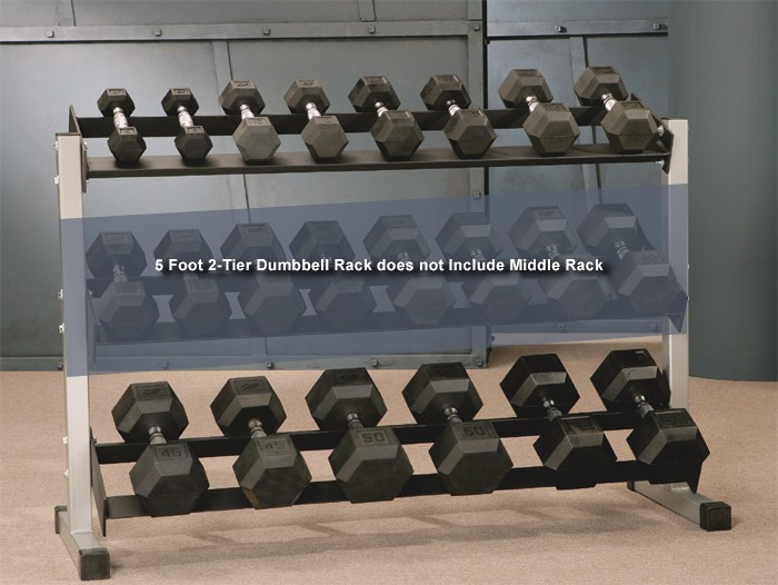 5 Foot 2-Tier Dumbbell Rack #46