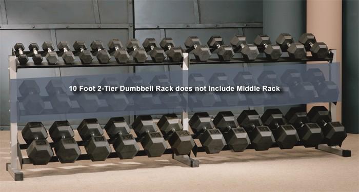 10 Foot 2-Tier Dumbbell Rack #48