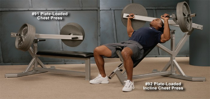 Plate-Loaded Incline Chest Press #92