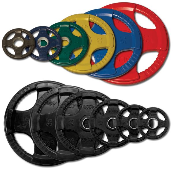 Rubber Grip Olympic Plates