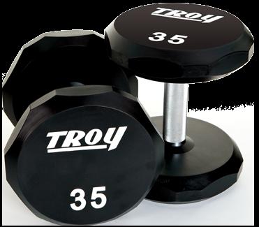 Troy Urethane 12-sided dumbbells