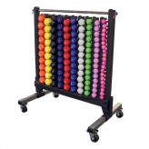 Body-Solid Tools Vinyl Dumbbell Rack