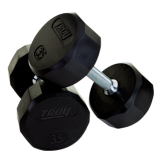 Troy 12 Sided Rubber Encased Dumbbells